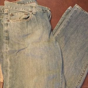 Men's Gap Wide Leg 33x34 Stonewashed Jeans